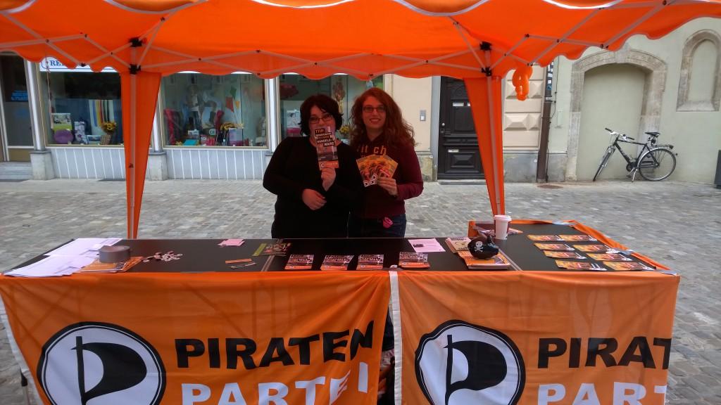 Infostand in Regensburg