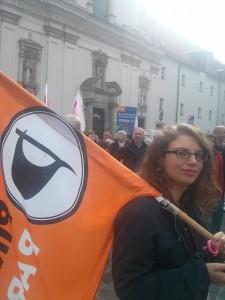 Pirat in Regensburg bei der Demo